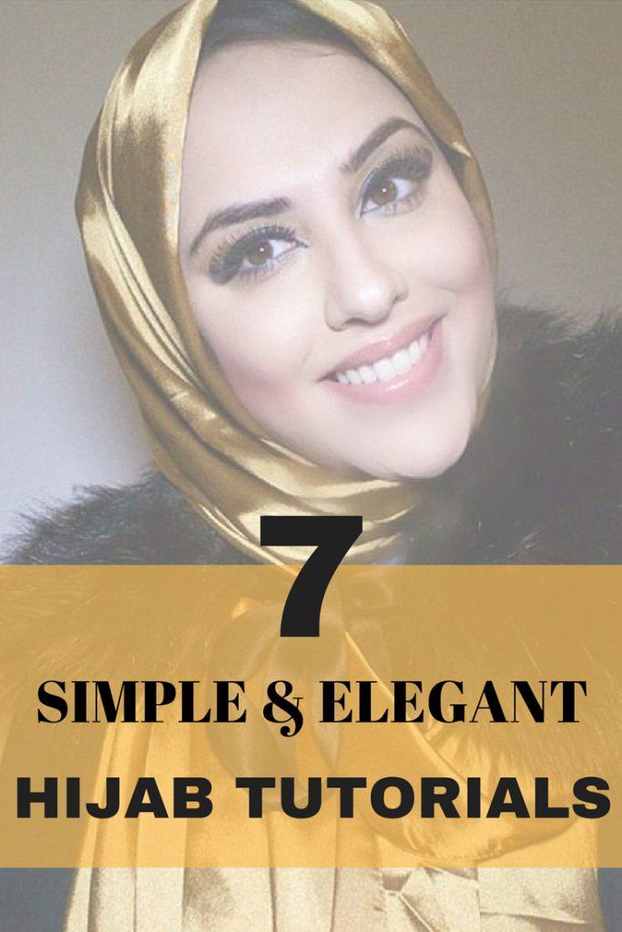 7 STEP BY STEP HIJAB TUTORIALS