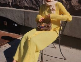 HIJAB FASHION LONG SLEEVE DRESS -SUMMER HIJAB FASHION
