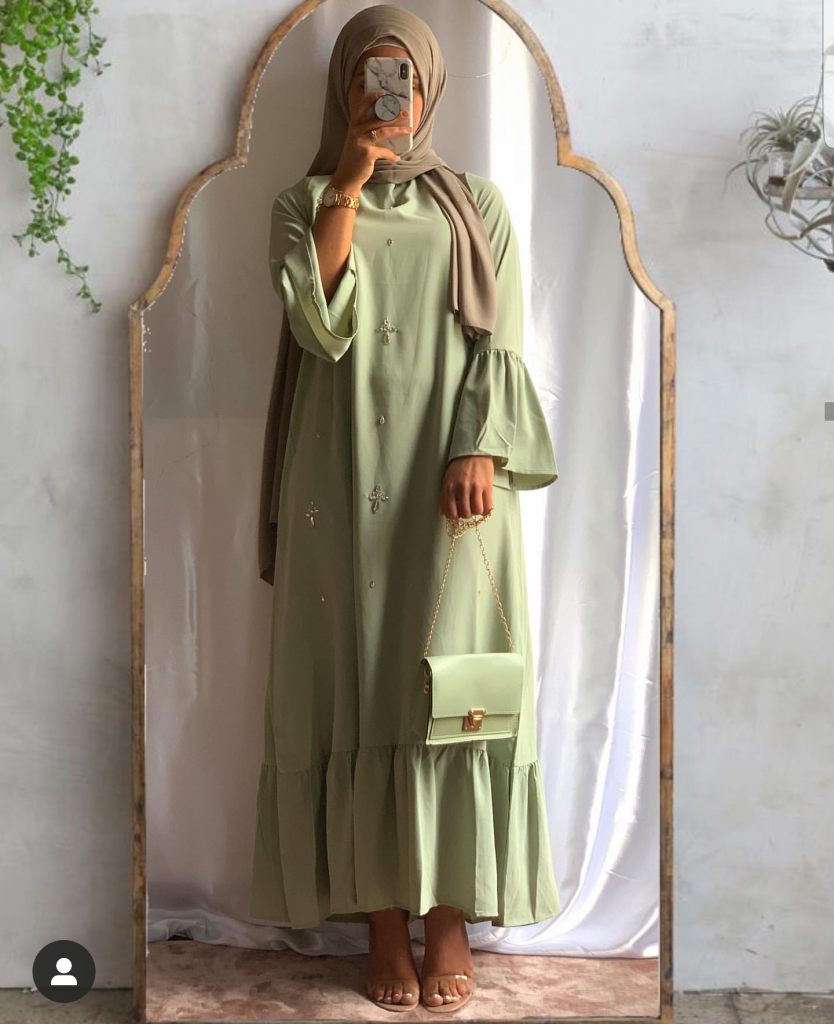 Hijab Fashion Long Sleeve Dress- Summer Hijab Dress