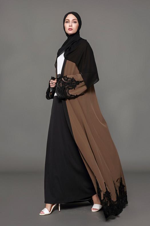 brown abaya