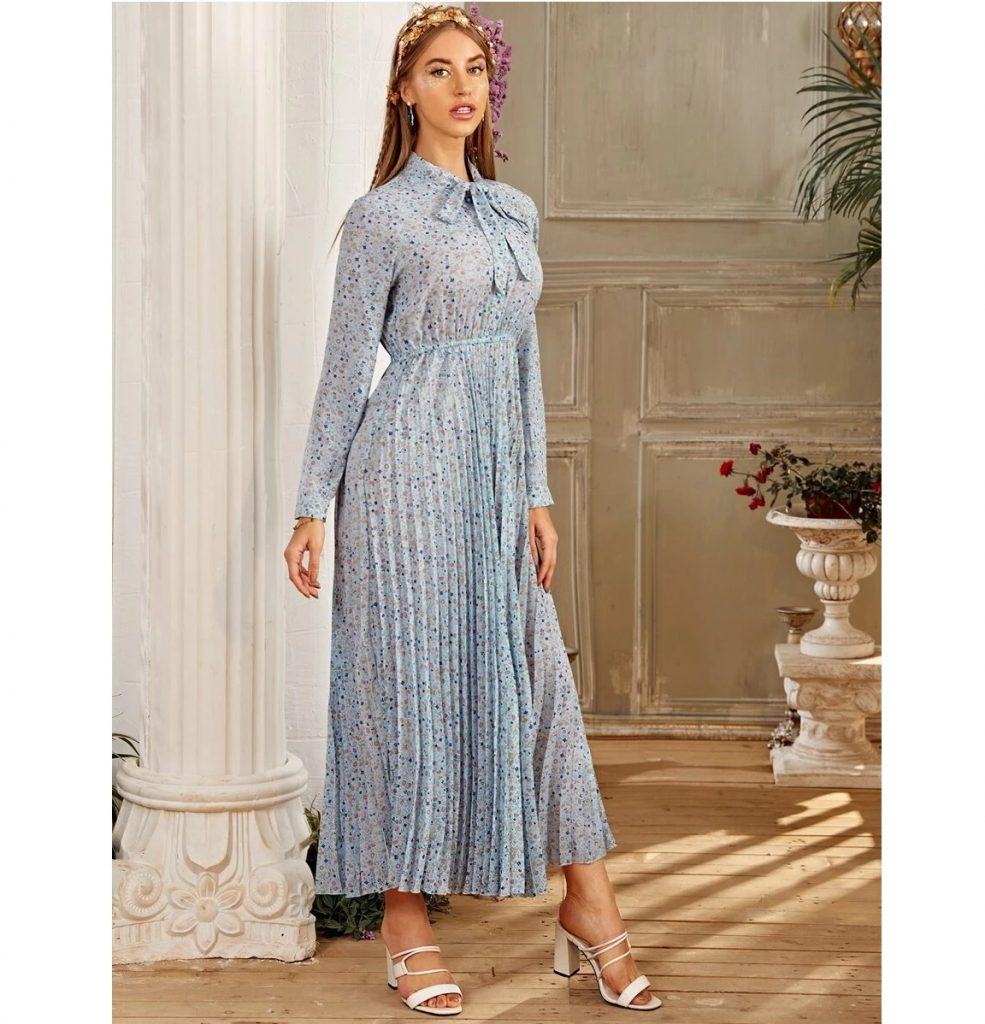 Hijab Fashion Long Sleeve Dresses - Summer Hijab Dress