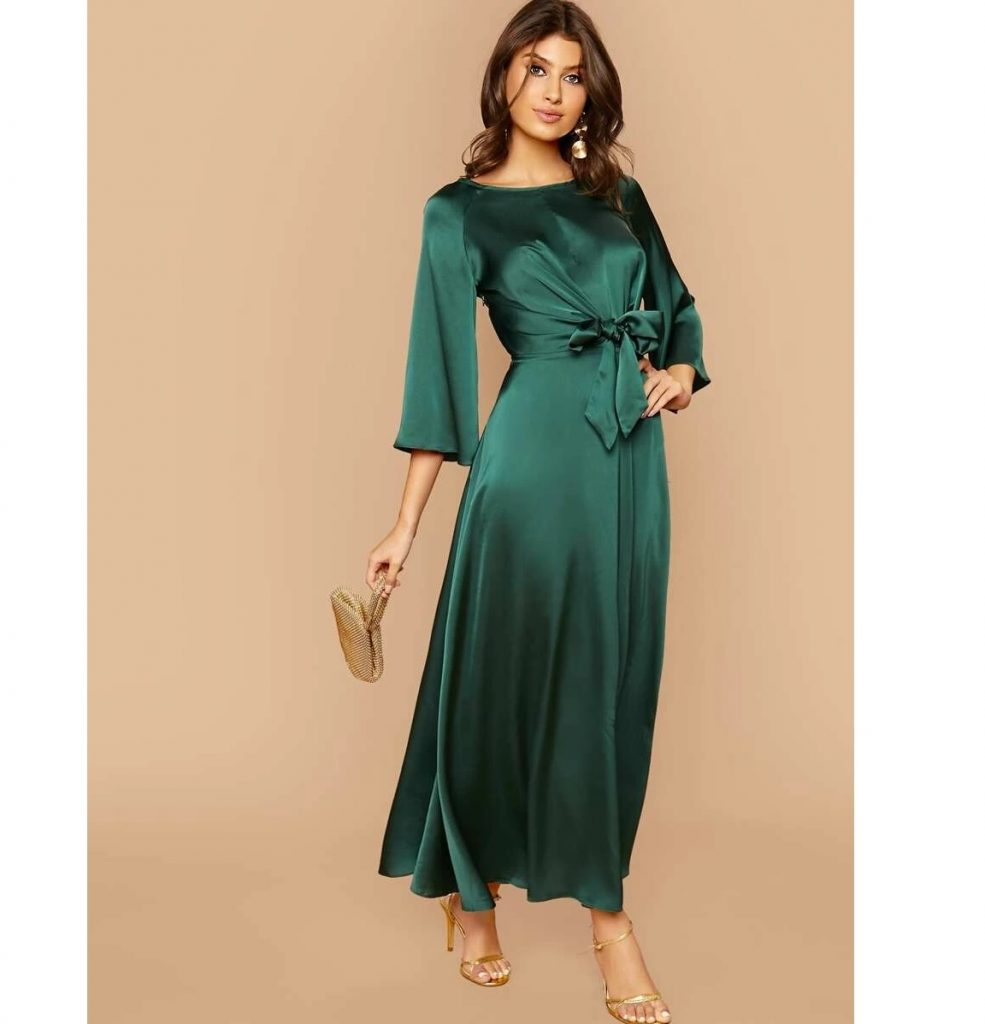 Hijab Fashion Long Sleeve Dress - Summer Hijab Fashion
