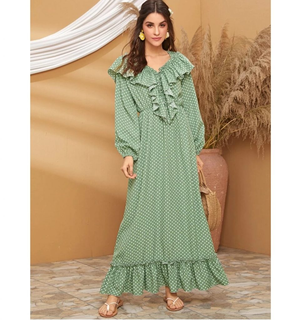 HIJAB FASHIO LONG SLEEVE DRESS - SUMMER HIJAB FASHION