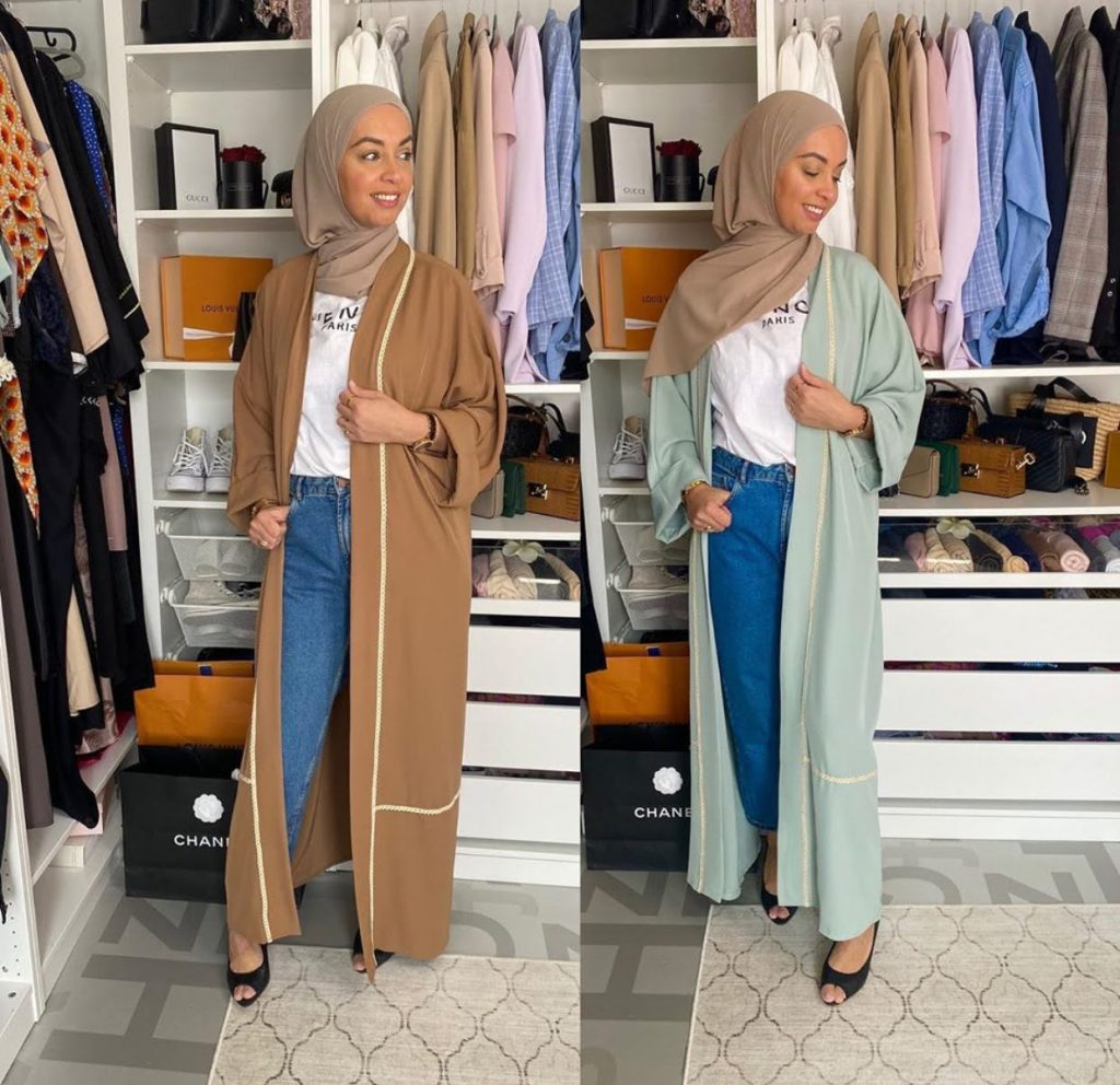 long sleeve cardigans with hijab fashion