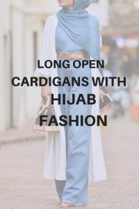 long open cardigans with hijab fashion
