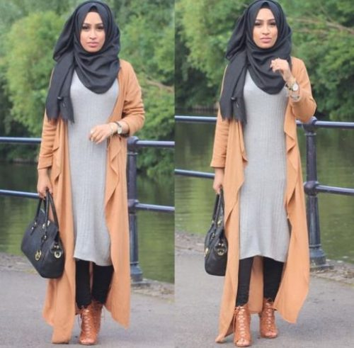 hijab fashion long cardigans