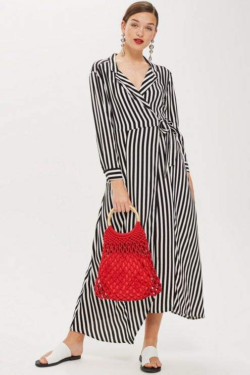 5 pretty striped maxi dresses