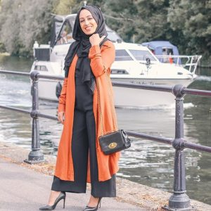 hijabi transition wardrobe from summer to fall