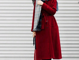 classy winter coat looks with hijab