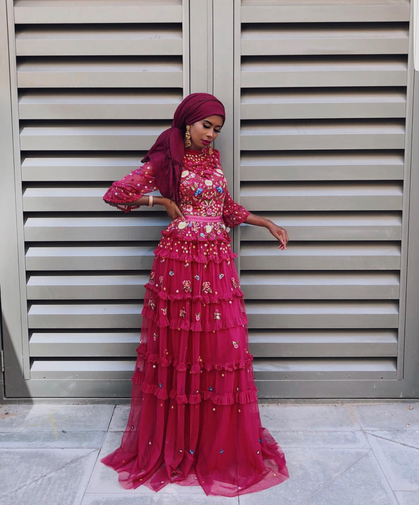long sleeve parry dresses with hijab