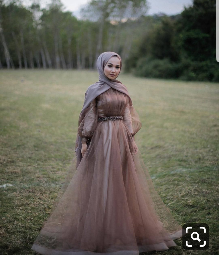 Long Sleeve Party Dresses With Hijab
