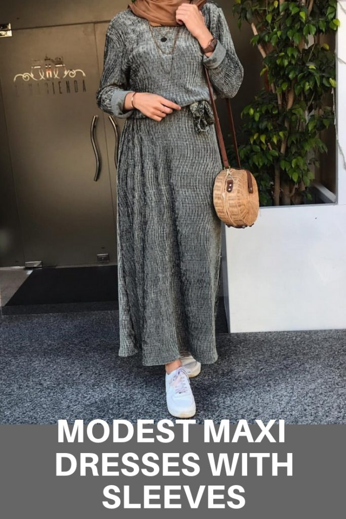 Modest Maxi Dresses With Sleves