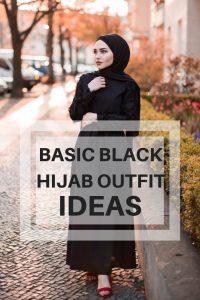 Basic Black Hijab Outfit Ideas