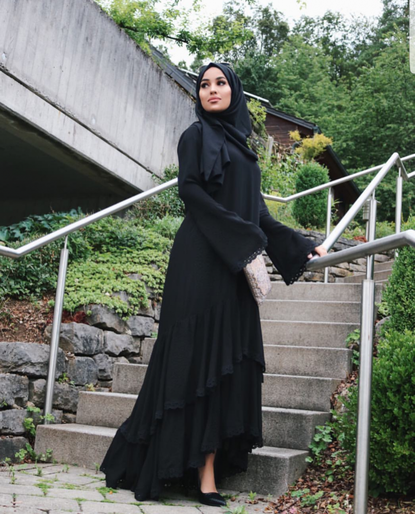 Basic Black Hijab Outfit ideas