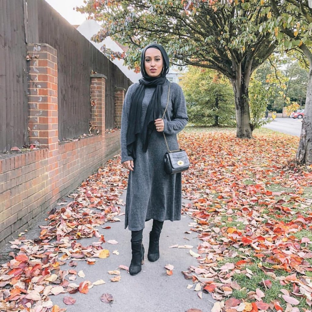 Casual And Simple Hijab Outfit Ideas For Winter