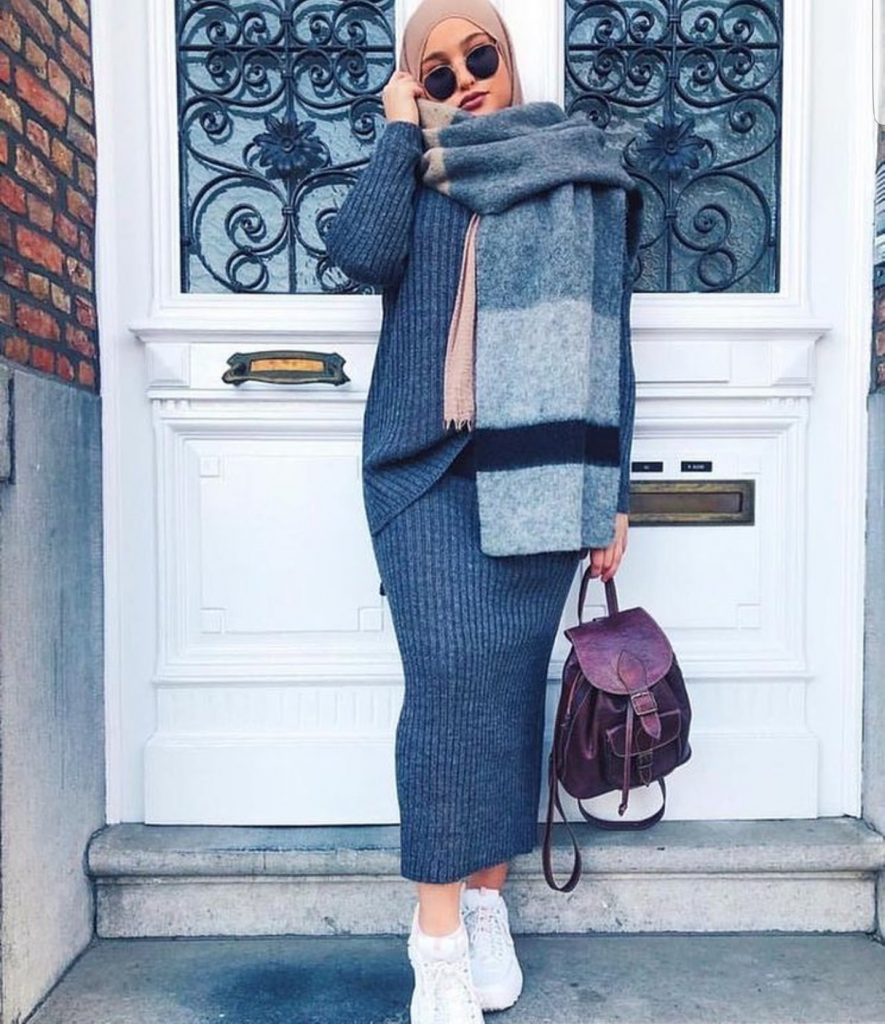 Stylish Street Style Hijabi Outfit Inspiration For Winte