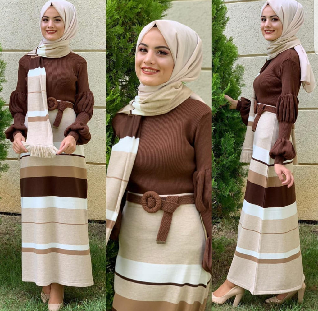 sweater dresses with hijab style