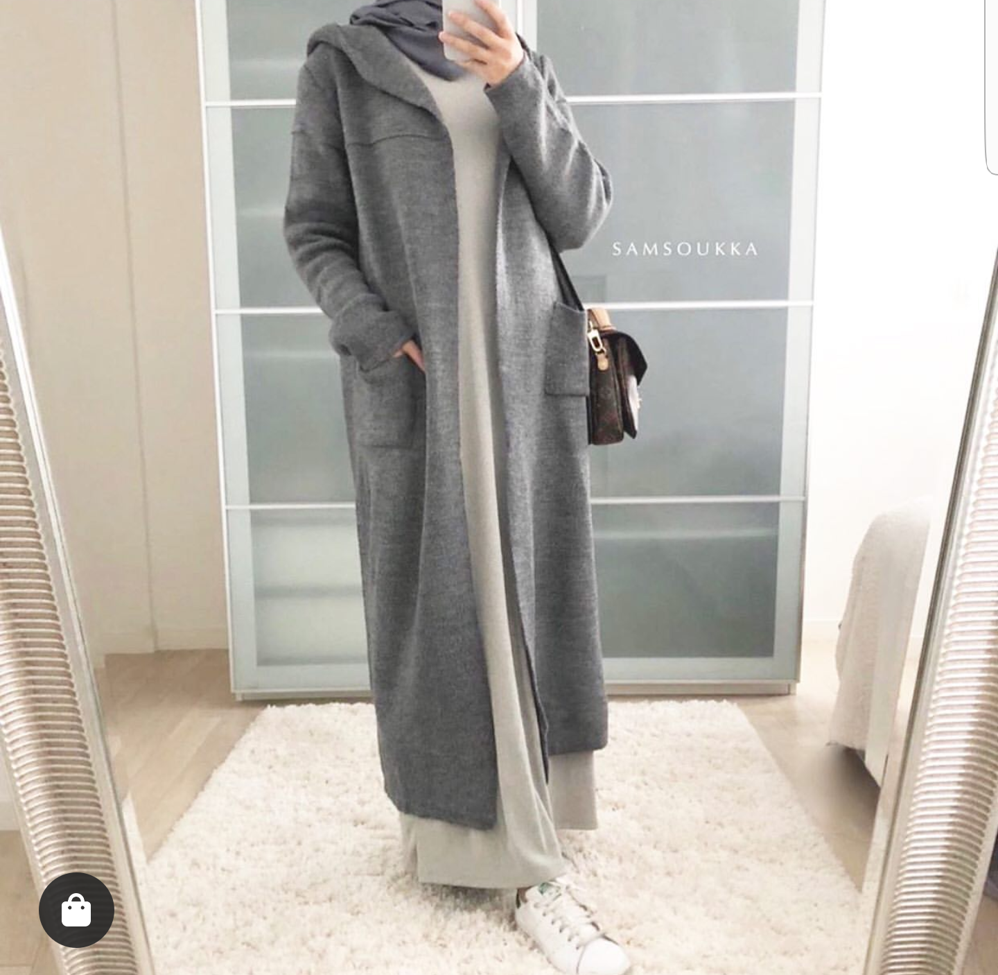 How To Wear Oversized Long Cardigans With Hijab Outfits
