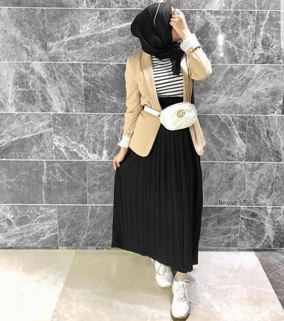 21 modest ways to style long pleated skirt with hijab