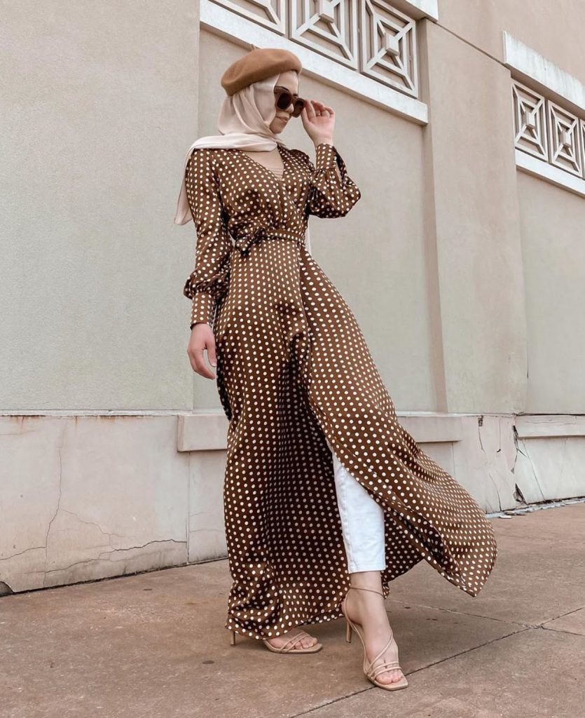 the cutest hijab fashion summer long dresses