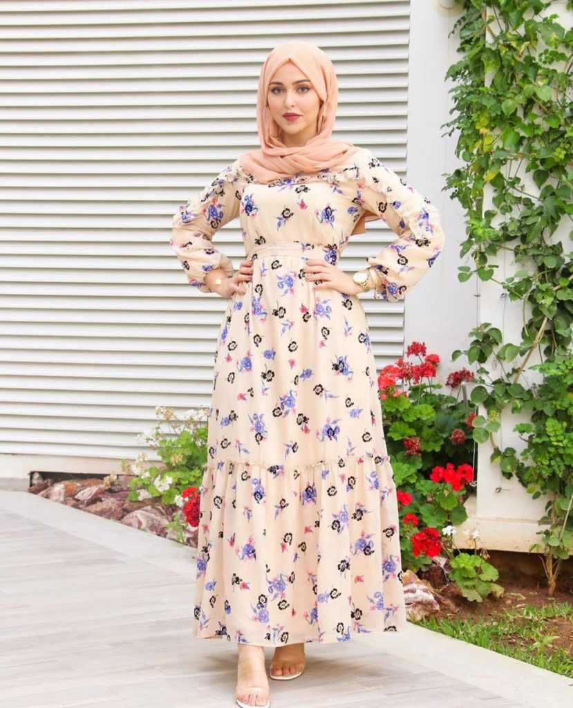 cutest hijab fashion long summer dresses