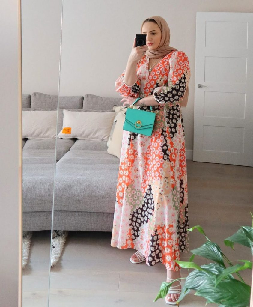 cutest hijab fashion summer long dresses