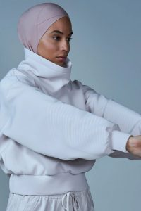woman with sports hijab