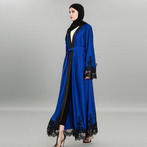 BLUE OPEN ABAYA