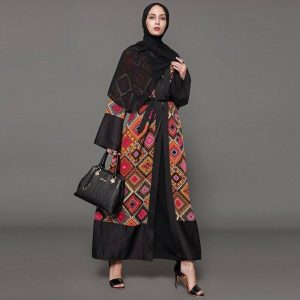 OPEN ABAYA WITH LACE
