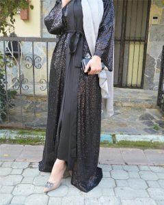 black dubai style abaya