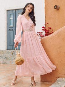 dusky pink dress