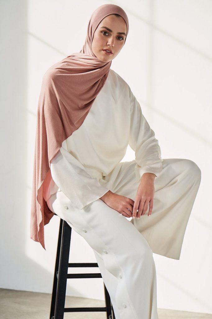 rose jersey hijab