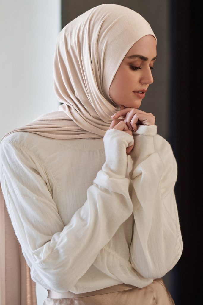 buttercream jersey hijab