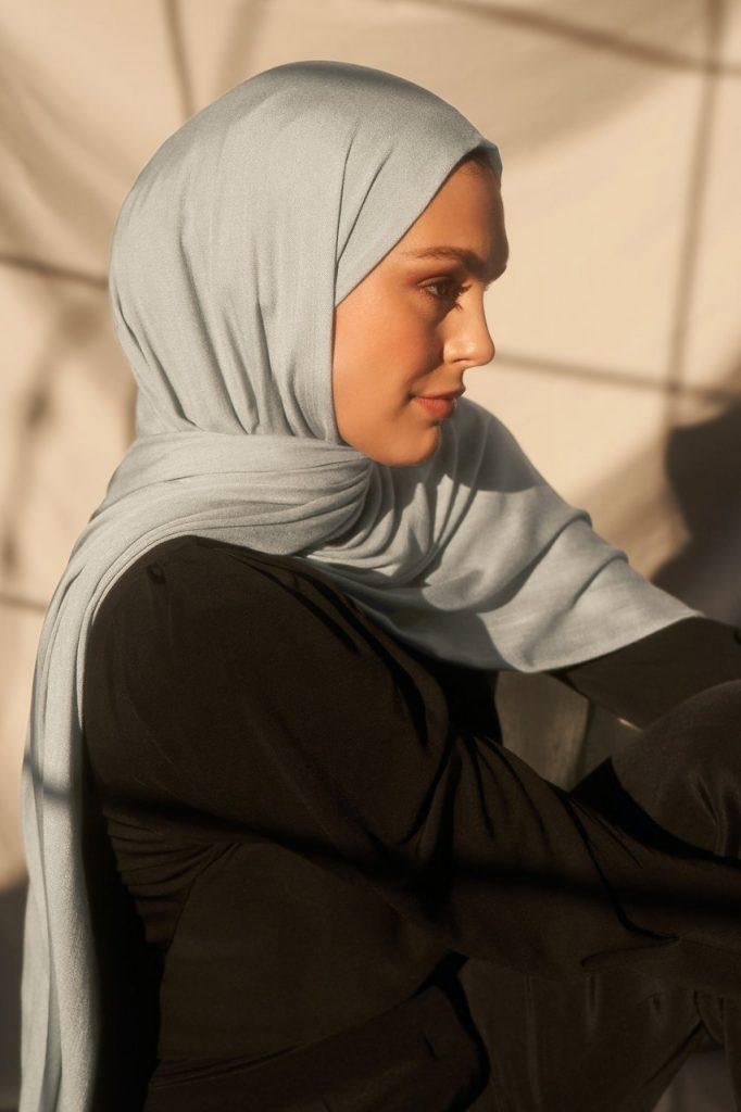 grey bamboo hijab