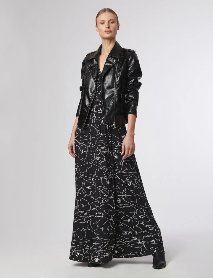 floral blacl abstract dress