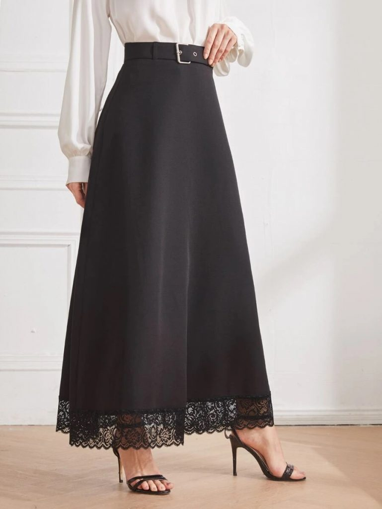 lace trimmed skirt
