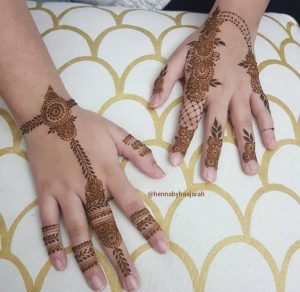 Hand withhenna