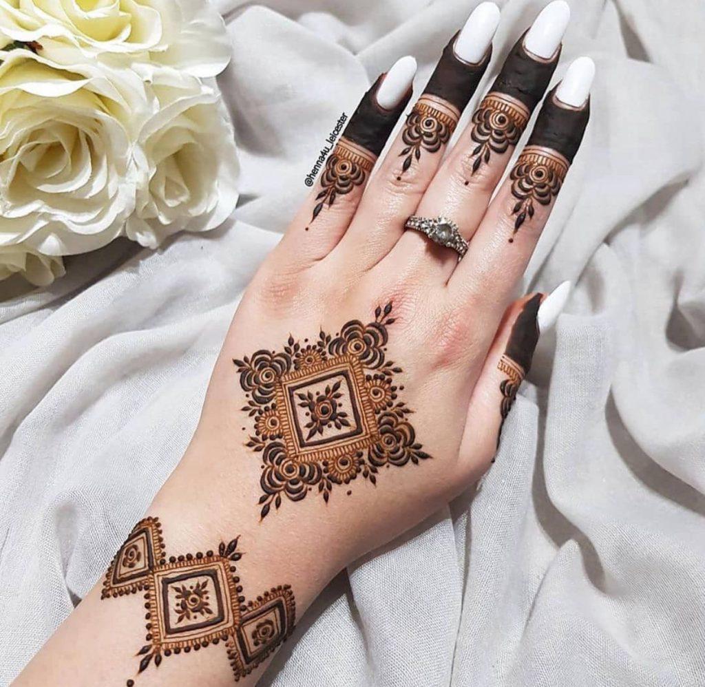Hand with henna