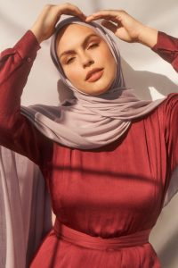 dusty lavender hijab