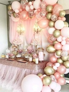 pink party baloons
